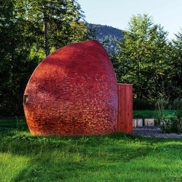 Room for birth and senses is a walk in clay structure, it's shell ...