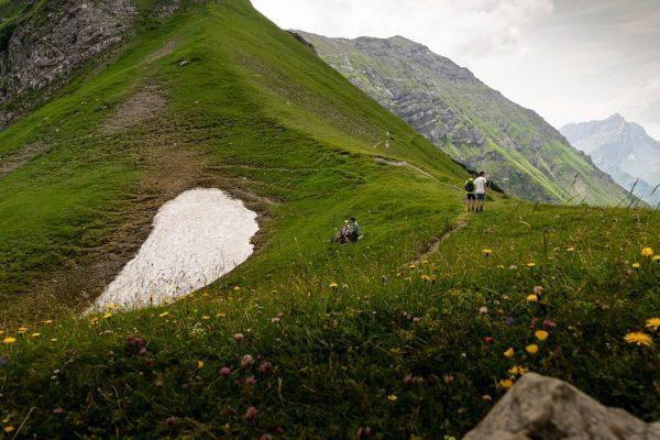 Das Amatschonjoch ist ein beliebtes Wanderziel bei uns im Gebiet. Von hier aus ...