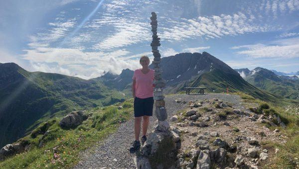 Letzter Tag in Österreich, heute eine Tour vom Rüflikopf/Lech/Arlberg über Schneefelder zu Stuttgarter ...