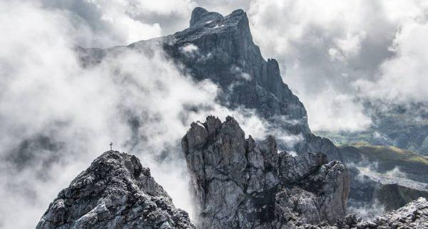 Wildes #Rätikon mit mittleren und kleinem Drusenturm und #Sulzfluh... #dreitürme #drusentürme #montafon #vorarlberg ...