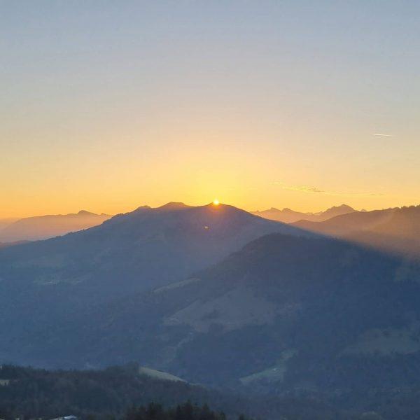 Sonnenaufgangswanderung Hohe Kugel, Rheintal Götzis
