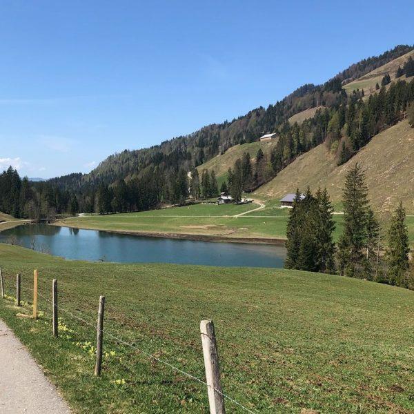 Am schönen Lecknersee in Hittisau auf der Suche nach innerer Balance und Kulinarik. ...