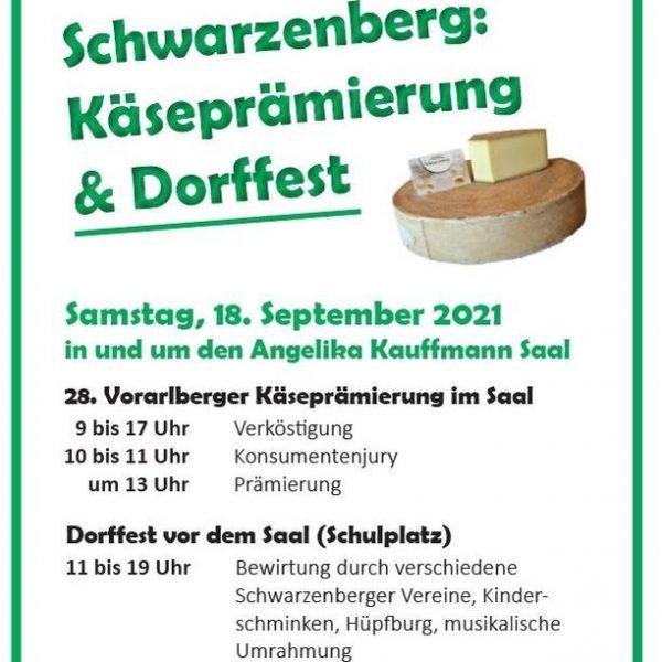 Traditionelle Käseprämierung im Angelika Kauffmann Saal am 18. September ab 9 Uhr. Bei ...