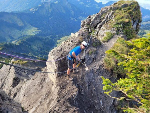 ‼️ Binnelgrat und Valüragrat sind wieder begehbar! #alpenvereinvorarlberg #alpineinfrasturktur #hoherfreschen #vorarlberg #ehrenamt #wegebautrupp