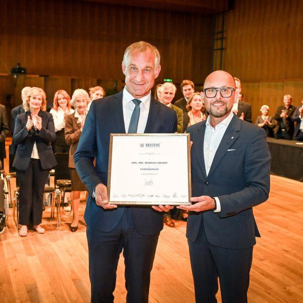 Markus Linhart ist Ehrenbürger von Bregenz! 👏🏽🎉 Am 24. September 2021 wurde Alt-Bürgermeister ...