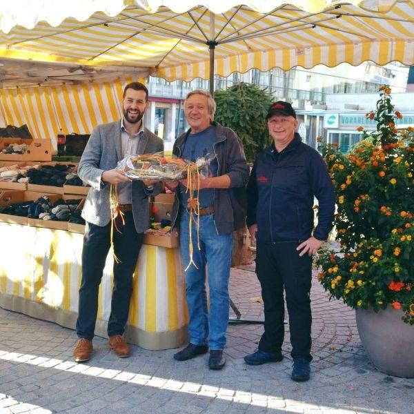 Nach 20 Jahren heißt es heute für Albert Obwalder ein letztes Mal Markttag ...