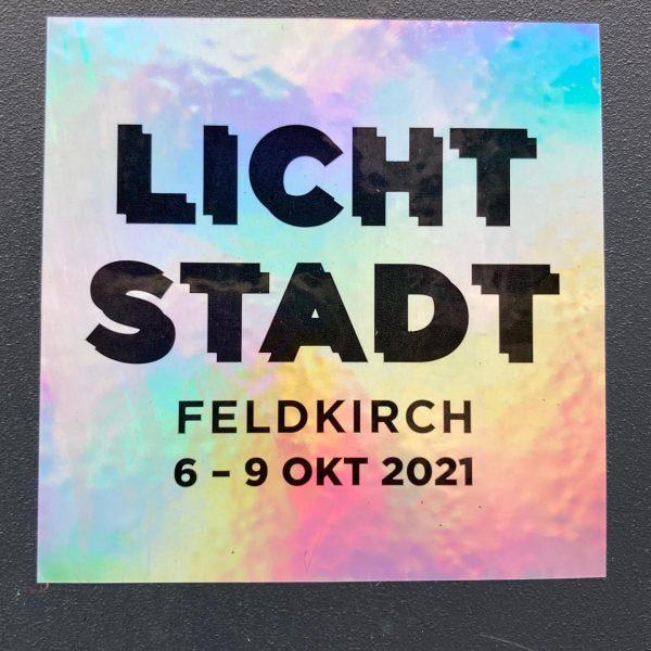 @davidreumueller #lichtstadtfeldkirch #2021 #setup #contemporaryart #lightart #austria Montforthaus Feldkirch
