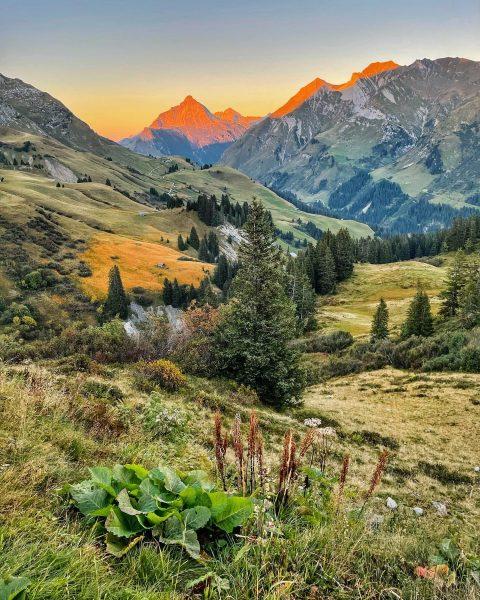 🏞 . #lech #lechzuers #visitvorarlberg #vorarlberg #mountainsunset #autumnsunset #naturephotography Oberlech, Vorarlberg, Austria