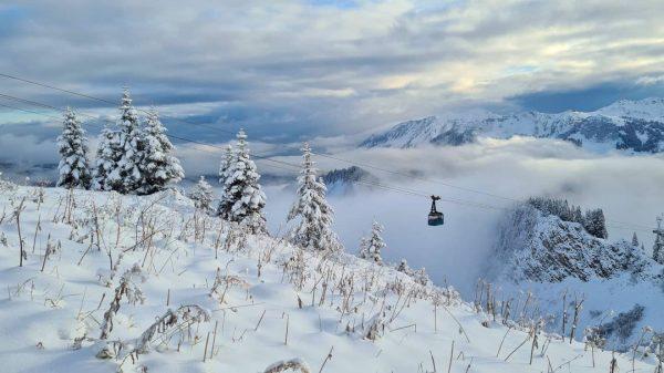 #schnee #herbst #oktober #Kleinwalsertal #Österreich #Schneefall #Mittelberg #Walmendingenhorn #Baad