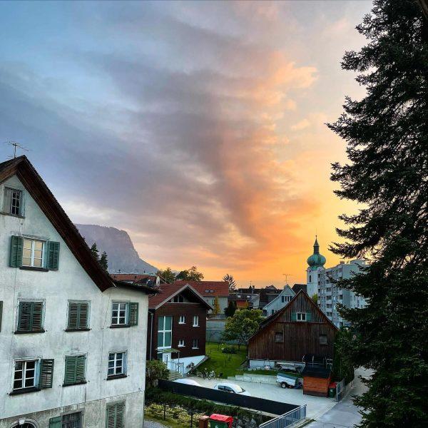 Oberdorf sunsets be like #dornbirn #sunset #obrdrf #sky #österreich #vorarlberg #bodensee #visitvorarlberg #visitvorarlberg ...
