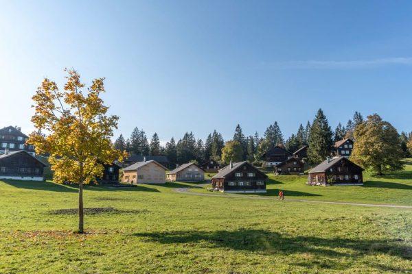 Architecture meets nature 🍂☀ #traditionalarchitecture #buildingculture #myvorarlberg #visitvorarlberg #bodenseevorarlberg #visitbregenzerwald Bödele - Schwarzenberg