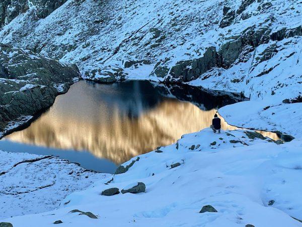 Mal zu Fuß in den Bergen unterwegs gewesen zur Neuen Reutlinger Hütte. #wandern#bergwandern#alpen#vorarlberg#österreich#schneewandern#winter#derbergruft#neuereutlingerhütte Östliche Eisentalerspitze