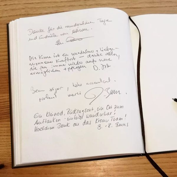... wunderbarer und liebgewonnener Kraftort ... Vielen Dank #hotelgästebuch #kronehittisau #gästebuchgeschichten #gästebuch #guestbook ...